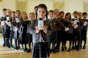 Year 1 pupil proves her bottle in green bid