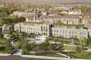 End of a dream - How the proposed luxury redevelopment of Harrogate's Crescent Gardens could have looked if it had gone ahead.
