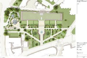 Scrapped - The intended plans for the Crescent Gardens development in Harrogate.