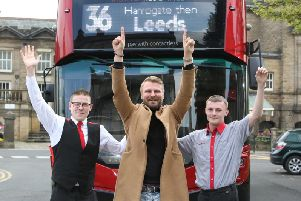 General Manager at The Viper Rooms, Elvijs Susts nightspot in Harrogate celebrate as The Harrogate Bus Company reveals plans to offer some free journeys after midnight next Saturday, May 25.