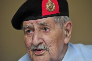 D-Day veteran John Rushton, 95, from Harrogate who returned to Normandy take part in the commemorations. (Picture by Gerard Binks)