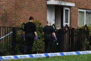 The scene in Wensley Street, Firth Park, following the murder of a 31-year-old man.