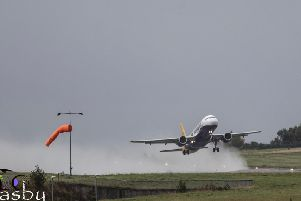 The Monarch plane left LBA for Shannon in Ireland