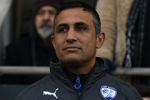 Picture Andrew Roe/AHPIX LTD, Football, EFL Sky Bet League Two, Chesterfield FC v Exeter City, Proact Stadium, 18/11/17, K.O 3pm''Chesterfield's manager Jack Lester''Andrew Roe>>>>>>>07826527594
