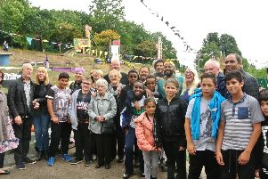 Dozens of young people turned out for the unveiling of the Barbara Morris Art Space at Pitsmoor Adventure Playground