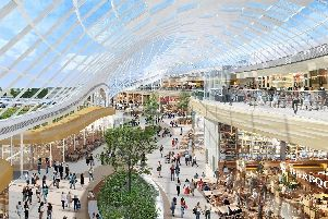 An artist's impression of the Leisure Hall, as originally envisaged at Meadowhall in Sheffield.