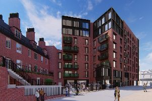 How Block B would look from behind Laycock House.