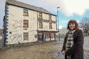 Conservation officer Zoe Mair at the Farfield Inn, one of the buildings featured in a council-backed drive to save 20 at risk Sheffield buildings by 2020. Picture: Scott Merrylees