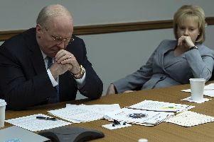 Undated film still handout from Vice. Pictured: Christian Bale as Dick Cheney and Amy Adams as Lynne Cheney. See PA Feature SHOWBIZ Film Digest. Picture credit should read: PA Photo/STX Financing, LLC./Annapurna Pictures, LLC/Matt Kennedy. All Rights Reserved. WARNING: This picture must only be used to accompany PA Feature SHOWBIZ Film Digest.