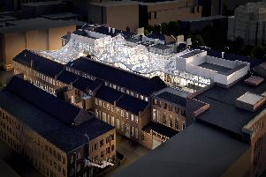 An artist's impression looking down on Sheffield University's Heartspace development, which will connect the Mappin Building with the Central Wing.