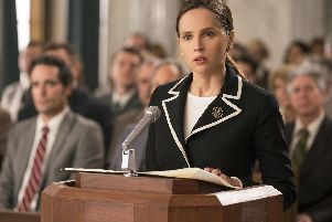 Undated film still handout from On The Basis Of Sex. Pictured: Felicity Jones as Ruth Bader Ginsburg. See PA Feature SHOWBIZ Film Digest. Picture credit should read: PA Photo/Storyteller Distribution Co., LLC/Focus Features/Jonathan Wenk. All Rights Reserved. WARNING: This picture must only be used to accompany PA Feature SHOWBIZ Film Digest.