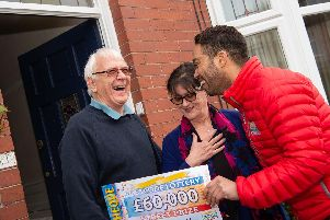 60,000 winners Angela and Gregor Williams of Sheffield