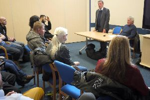 Lord David Blunkett visits the Sheffield Royal Society for the Blind