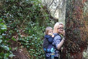 Naomi Cooper with her three year old son