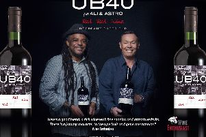 The UB40 Red Red Wine has been created with the reggae band stars