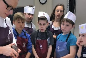 Children on the chocolate making courses at the School of Artisan Food