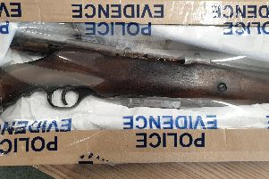 The firearm recovered by police.