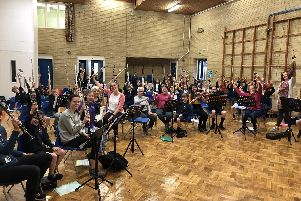 Rehearsals for the new Clifford All Saints Community Orchestra in Sheffield