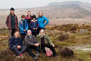 Junior Rangers, and moorland access campaigners at Burbage