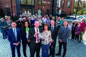 McCarthy and Stone CEO John Tonkiss, joins staff and customers to celebrate receiving the HBF Five Star Home Builder Customer Satisfaction Award for the 14th consecutive year