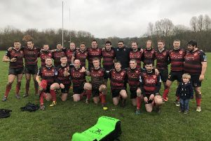 South Shields RFC celebrate after a thumping victory that confirms promotion to DN2.
