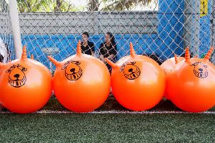 Could you make it across on a space hopper? Picture: Pixabay.