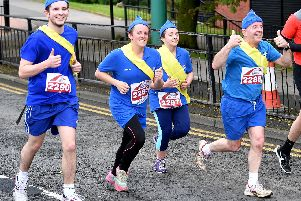 Runners adopt a uniform approach to the 2018 Sunderland run. Our slideshow above shows more competitors in action.