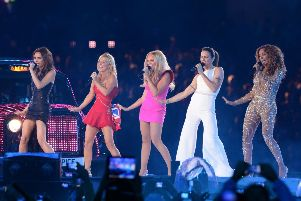 The Spice Girls performing at London Olympics closing ceremony. Credit:  Anthony Devlin/PA Wire