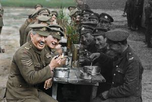 A scene from First World War film They Shall Not Grow Old.
