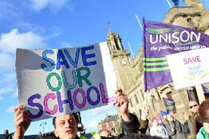 Campaigners are fighting against the potential closure of South Shields School.