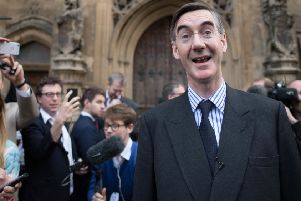 Road Mogg! Jacob Rees-Mogg making a spectacle of himself.