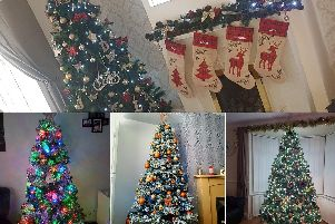 Your Christmas tree pictures. Pictures clockwise from top by Deanna Moore, Tracey Reay, Lyndsey Johnson and Louise Bell.