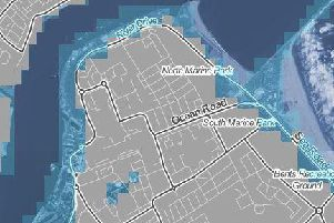 Areas marked in blue could be submerged by rising sea levels in the near future, according to Climate Central (Photo: Climate Central)