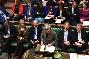 Prime Minister Theresa May in the House of Commons. Picture by UK Parliament/Jessica Taylor/PA Wire