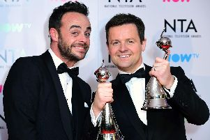 Anthony McPartlin (left) and Declan Donnelly at the National Television Awards in 2018. Picture by Ian West/PA Wire