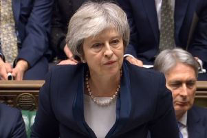Prime Minister Theresa May speaking in the House of Commons. Picture by House of Commons/PA Wire