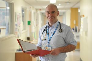 Dr Mark Shipley, Consultant Respiratory Physician at South Tyneside District Hospital.