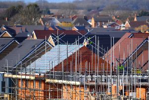 The number of new homes being built has fallen in the UK.