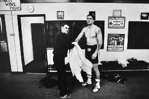 Glenn McCrory with trainer Alan Walker in his fighting days