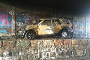 Car was set alight in an underpass in South Shields