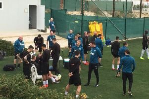 Newcastle United are busy training in Spain - and we're there alongside them