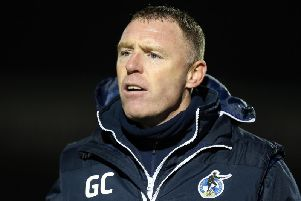 Bristol Rovers manager Graham Coughlan. Getty Images.