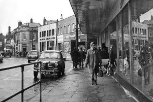 Shoppers in Laygate in 1966.