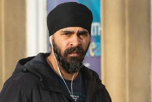 Baljinder Singh outside Newcastle Crown Court on Monday morning before he was jailed.