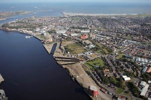 The area from the air