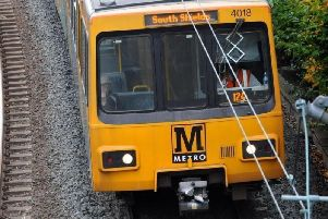 Vandalism has caused delays on the Metro service this evening.