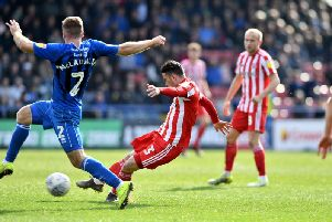 Bryan Oviedo in action against Rochdale.