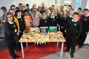 Jarrow Autistic Unit pupils at their fundraising coffee morning.