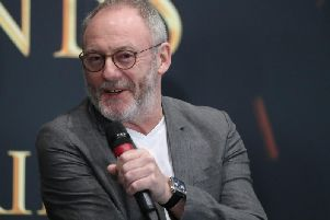 Actor Liam Cunningham, who plays Davos Seaworth in Game of Thrones, at the launch of the Game of Thrones touring exhibition at the Titanic Exhibition Centre in Belfast. Picture by: Liam McBurney/PA Wire