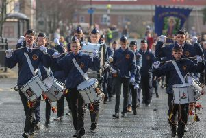 Marchers taking part in last year's parade in South Shields town centre.